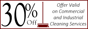 30% Off - Offer Valid on Commercial and Industrial Cleaning Services
